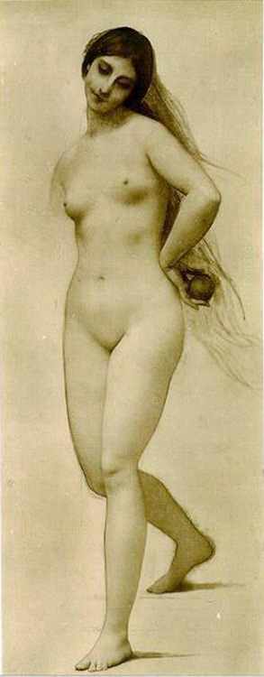 Eve sketch :: Jules Joseph Lefebvre - Nu in art and painting фото