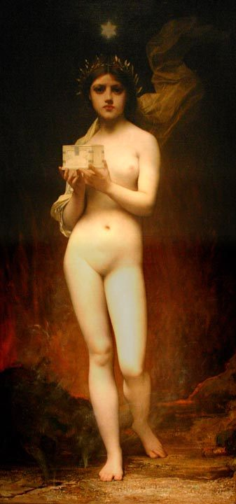 Pandora :: Jules Joseph Lefebvre - nu art in mythology painting ôîòî