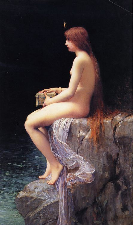 Pandora :: Jules Joseph Lefebvre - nu art in mythology painting фото