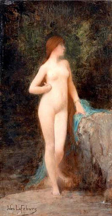 Chloe (study) :: Jules Joseph Lefebvre - nu art in mythology painting ôîòî