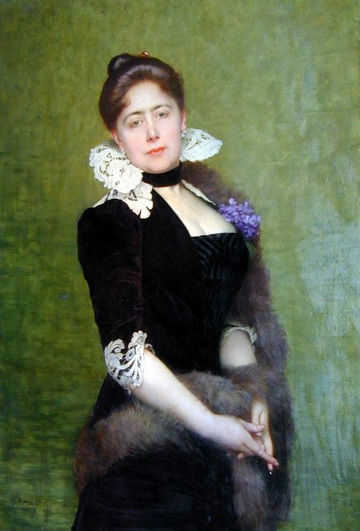 Portrait of a Lady :: Jules Joseph Lefebvre - 7 female portraits ( the end of 19 centuries ) in art and painting фото