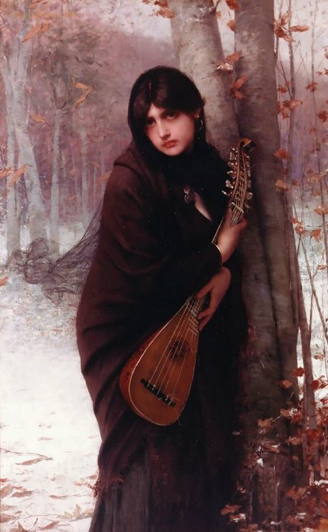 Girl with a Mandolin :: Jules Joseph Lefebvre - 7 female portraits ( the end of 19 centuries ) in art and painting фото