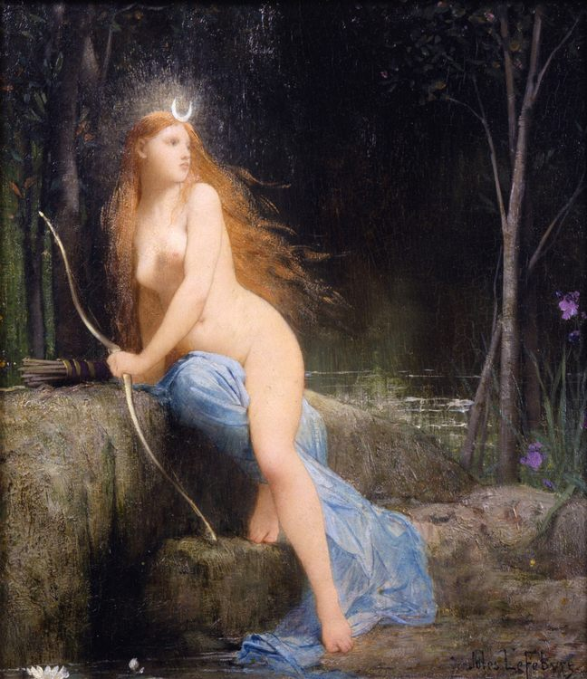 Diana, 1879 - Jules Joseph Lefebvre, art and painting - user art painting gallery фото