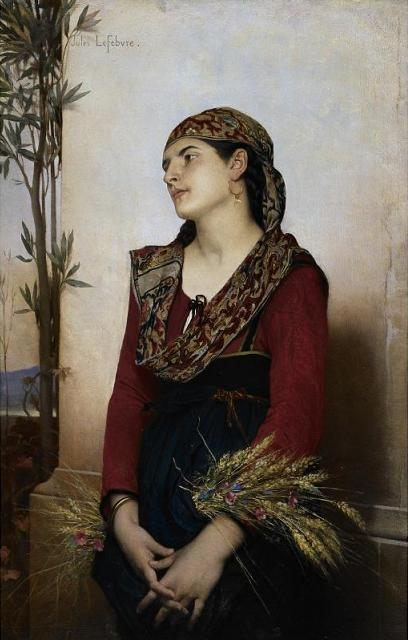 A Mediterranean Beauty :: Jules Joseph Lefebvre - user art painting gallery фото