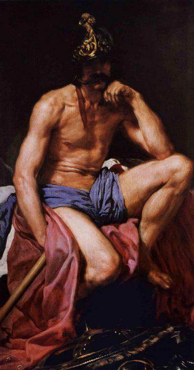 Mars, God of War :: Diego Rodriguez de Silva y Velazquez - mythology and poetry ôîòî