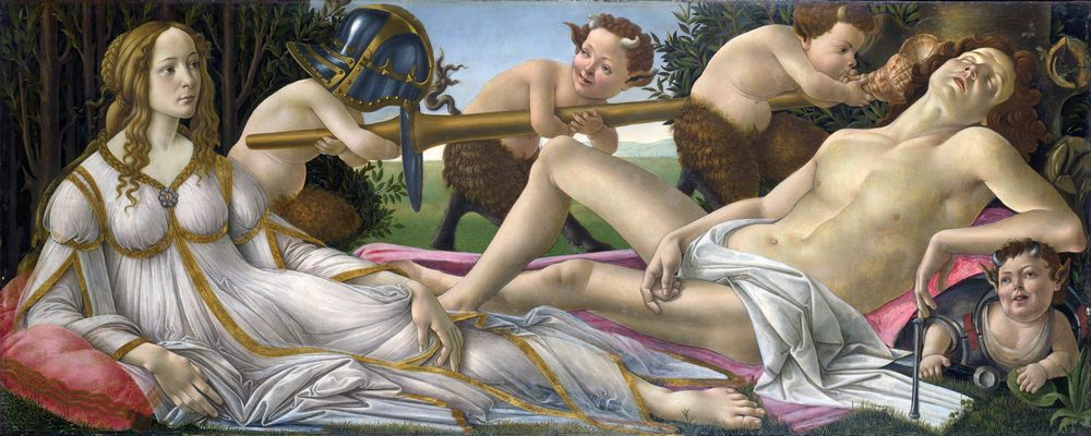 Venus and Mars :: Sandro Botticelli  - Fantasy in art and painting фото