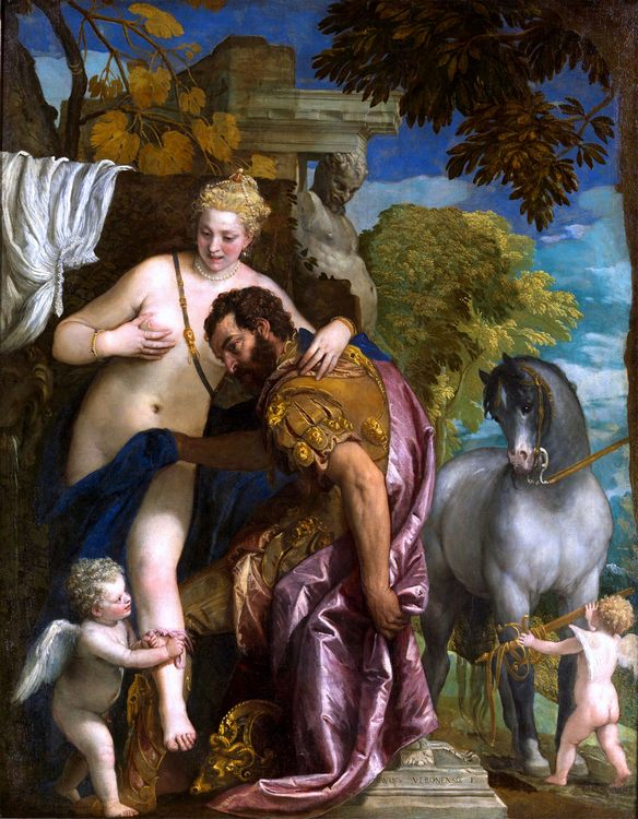 Mars and Venus :: Paolo Veronese - mythology and poetry ôîòî