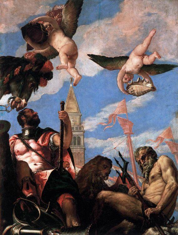 Mars and Neptune :: Paolo Veronese - mythology and poetry ôîòî