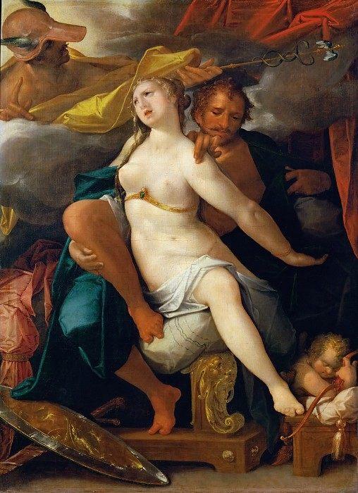 Mercury, Venus and Mars :: Bartholomeus Spranger - mythology and poetry фото