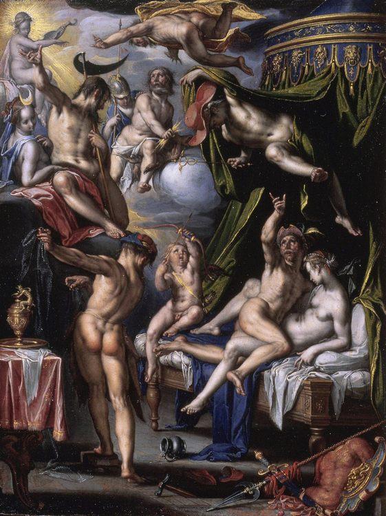 Mars, Venus and Vulcan :: Joachim Wtewael - mythology and poetry ôîòî