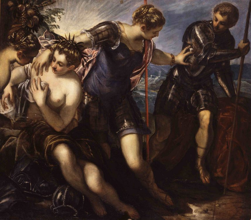 Minerva Sending Away Mars from Peace and Prosperity :: Jacopo Tintoretto - mythology and poetry ôîòî