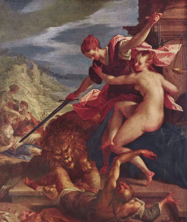 The Triumph of Justice :: AACHEN, Hans von - Allegory in art and painting фото