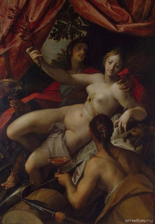 Allegory of Peace, Art and Abundance :: AACHEN, Hans von - Allegory in art and painting фото