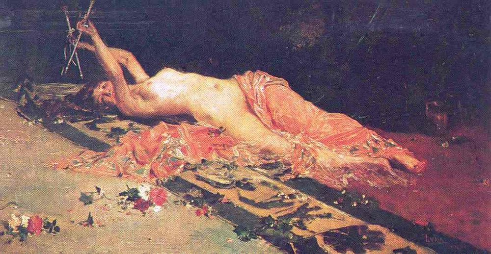 Odalisque painting by Juan Luna