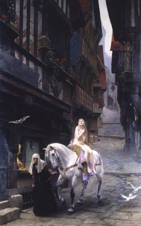 Lady Godiva :: Jules Joseph Lefèvre - Art scenes from literary works фото