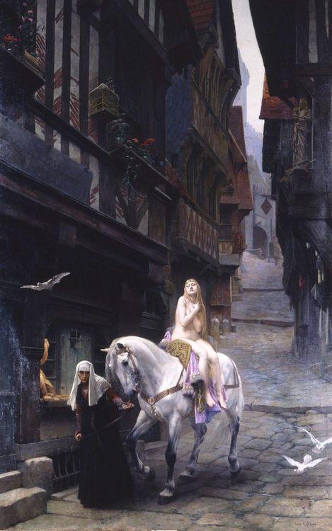 Lady Godiva :: Jules Joseph Lefebvre - Art scenes from literary works ôîòî