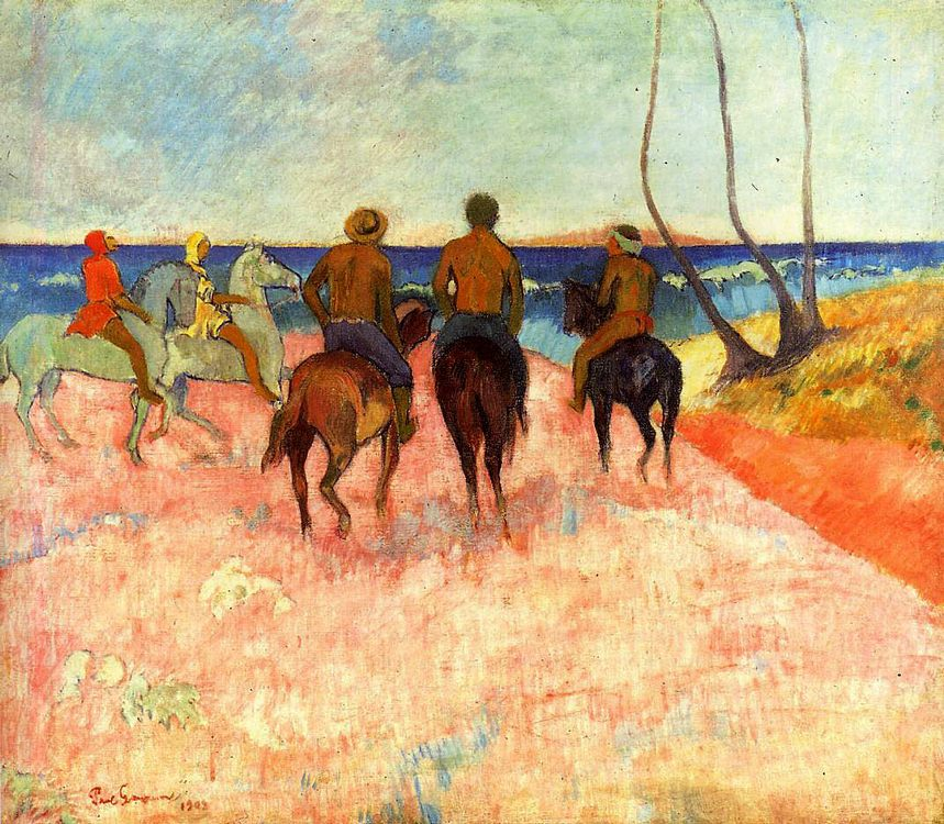 picture Riders ashore:: Paul Gaugin - Horses in art ôîòî
