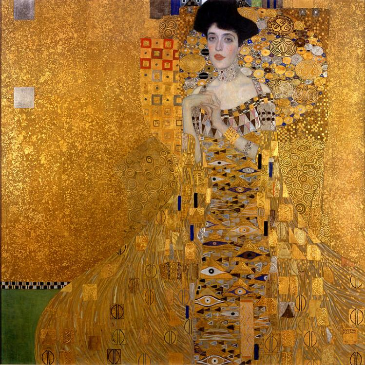 Golden Adele, Gustave Klimt, Adele Bloch-Bauer, Art Nouveau - 8 female portraits hall фото