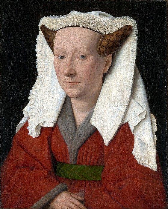 Margarita, the Artist's Wife :: Jan Van Eyck - 1 women portraits 15th century hall фото