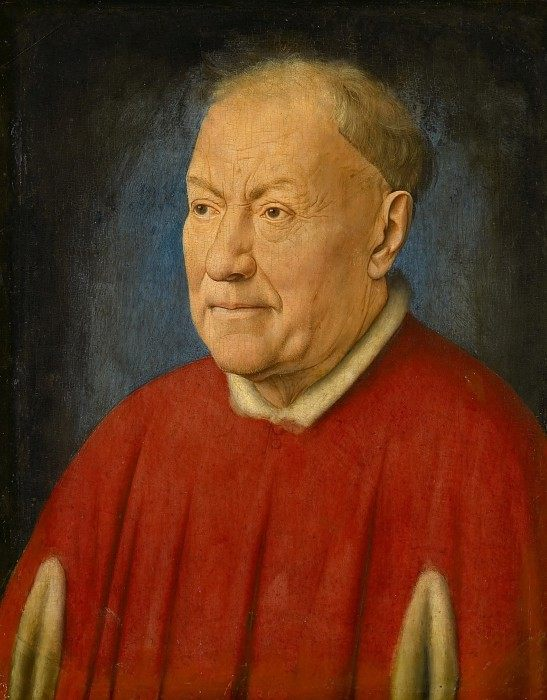 Papal Legate Cardinal Niccolo Albergati :: Jan van Eyck - men's portraits 15th century hall фото