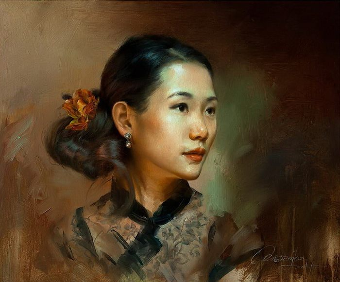 Women's portraits and nu by Kun Wang (Chinese painting)