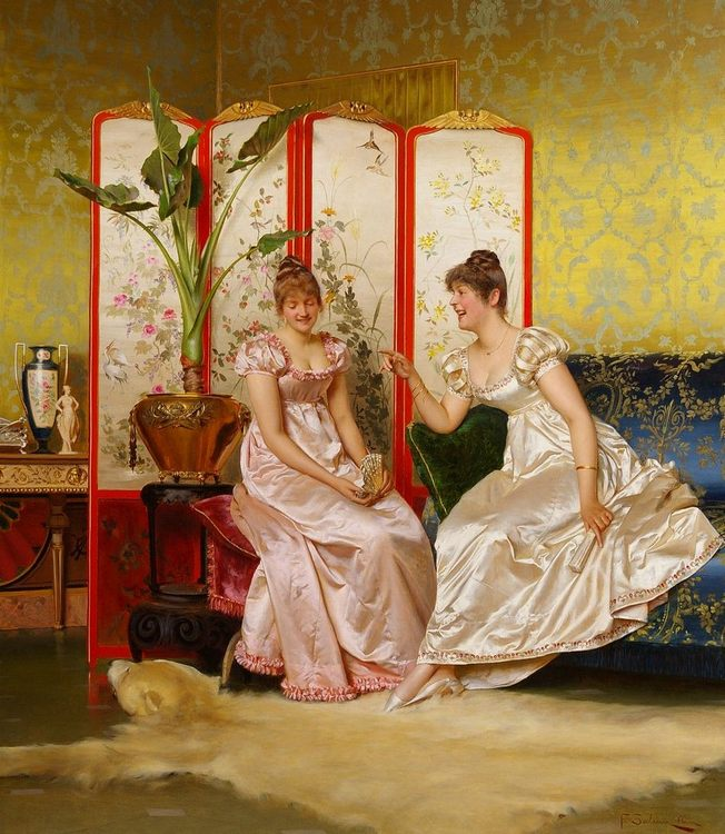 Salon portraits painting by Frederic Sulacroix