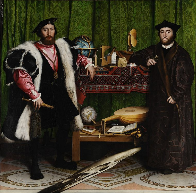 The Ambassadors :: Hans Holbein the Younger (1497 - 1543) - men's portraits 16th century ôîòî