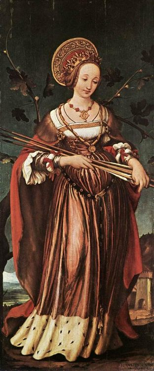 Portrait of Saint Ursula (1523) by Hans Holbein the Younger (1497 - 1543)