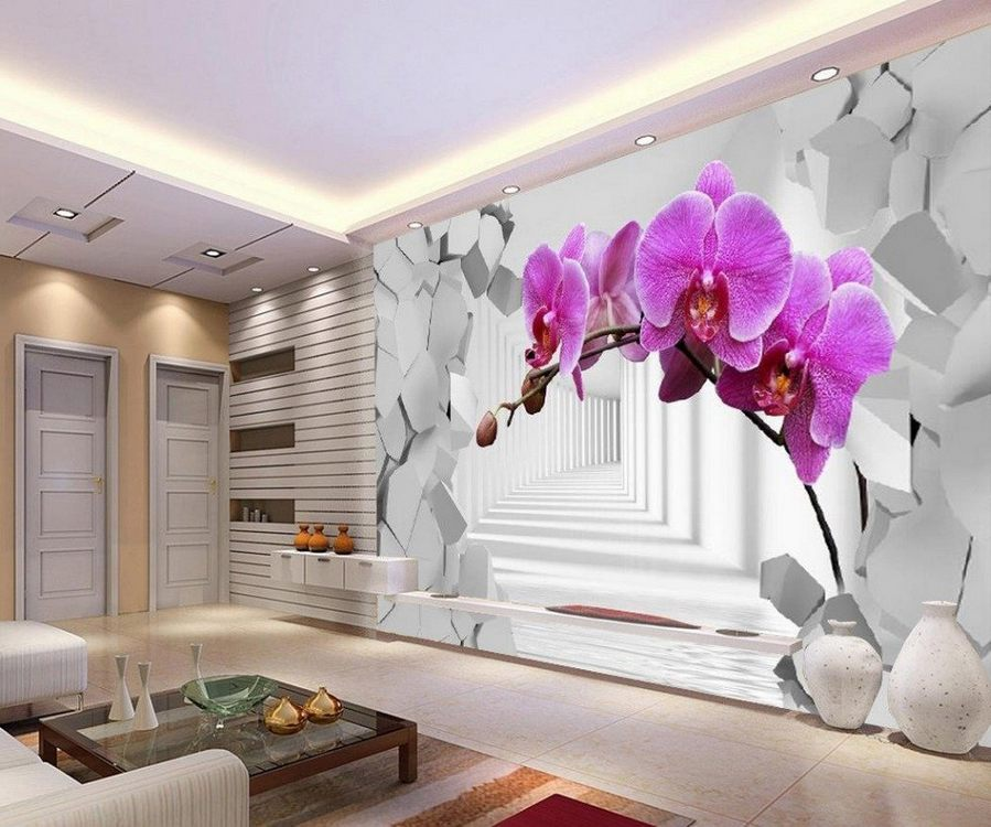 3D wallpapers in modern interior