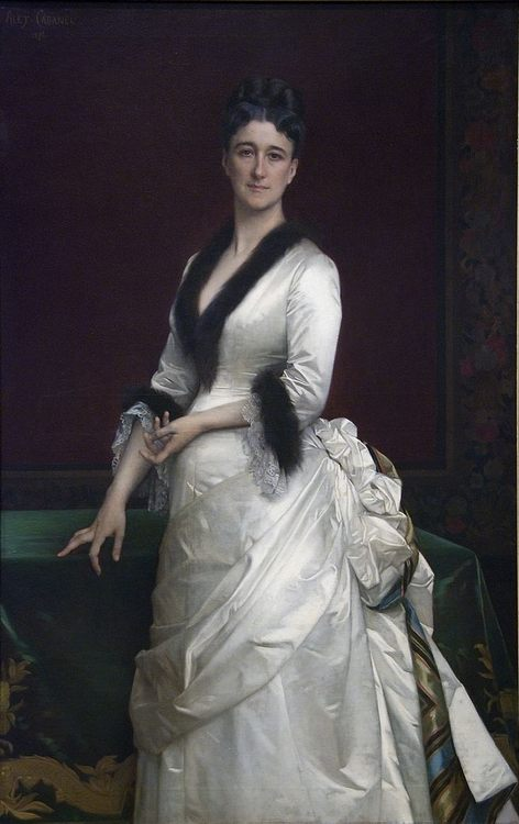 Portrait of Catharine Lorillard Wolfe - Alexander Cabanel - portraits, myphology and salon painting