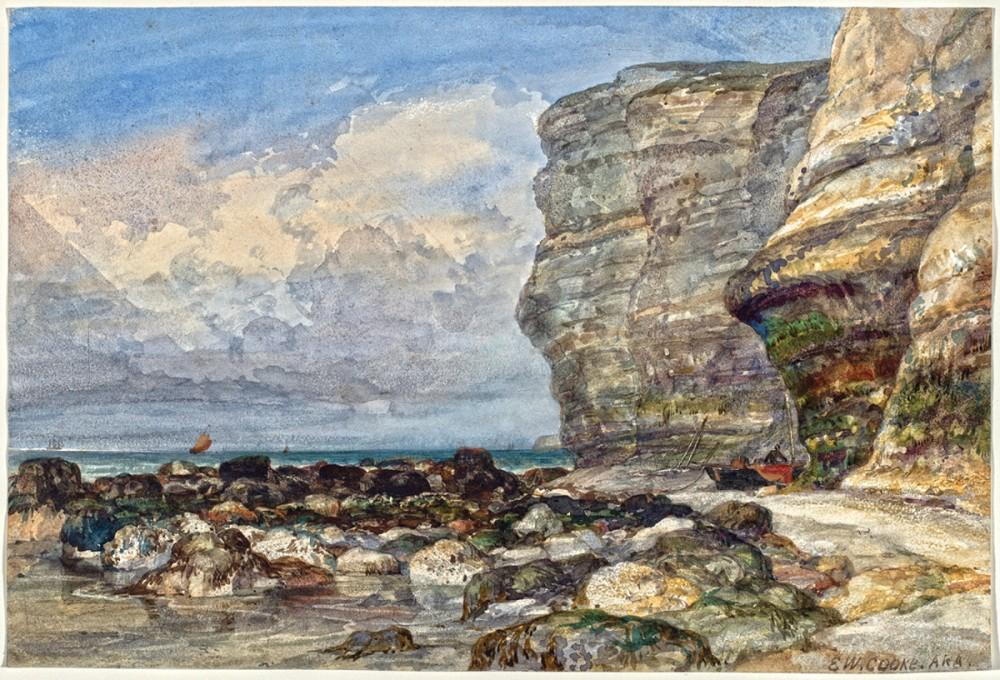 Rocky Shore and Cliffs at Fecame - Cook Edward William
