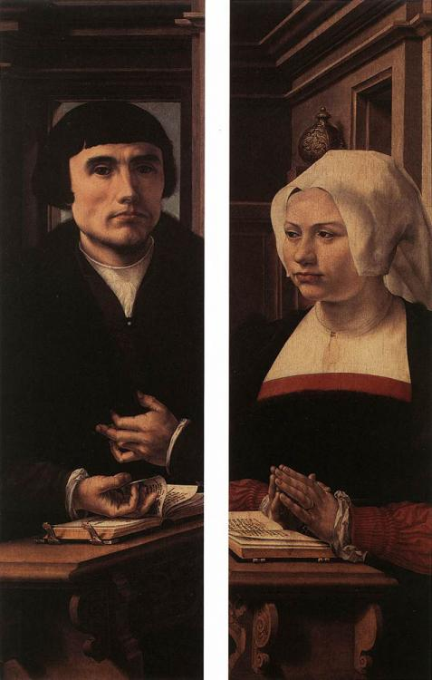 Paired portraits (man and woman)
