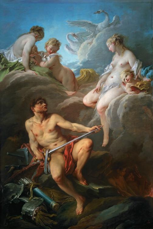 Venus and Volcano with weapons for Aeneas by Francois Boucher painting