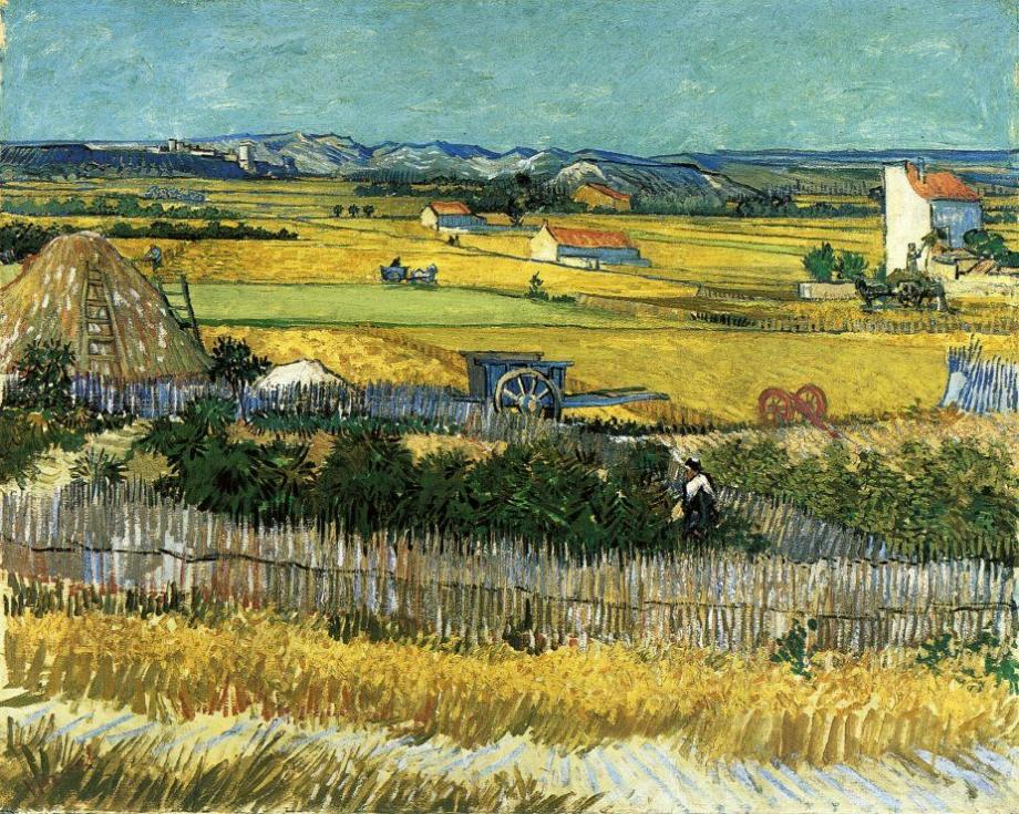 "landscape ""Harvest. The Valley of La Cro"