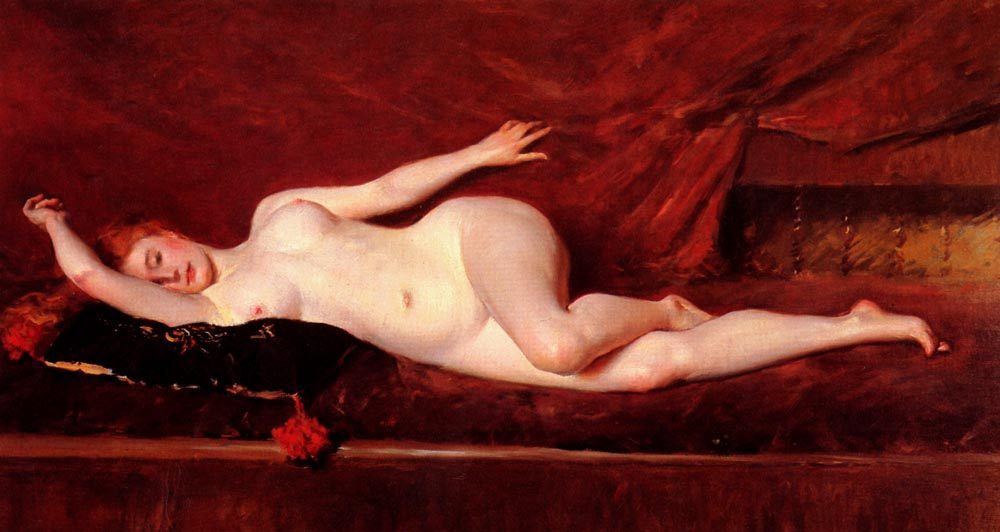 A Study in Curves :: William Merritt Chase - Nu in art and painting фото