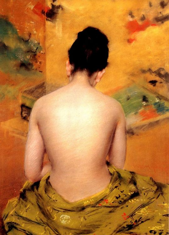 Back of a Nude :: William Merritt Chase - Nu in art and painting фото