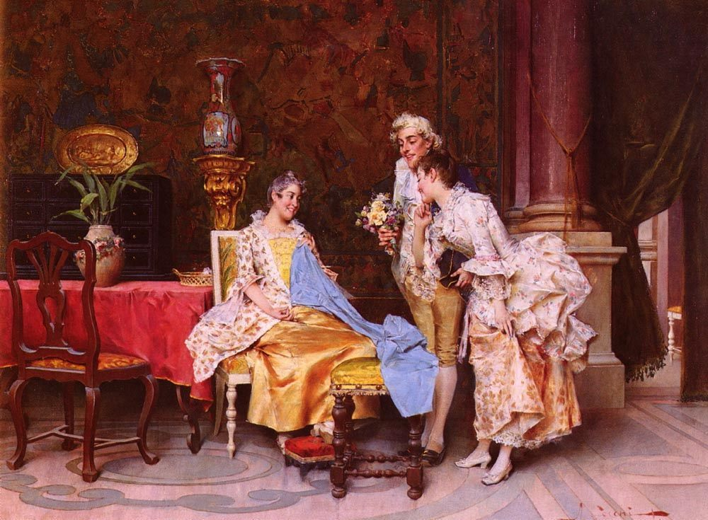 At The Dressmaker :: Adriano Cecchi - Romantic scenes in art and painting фото