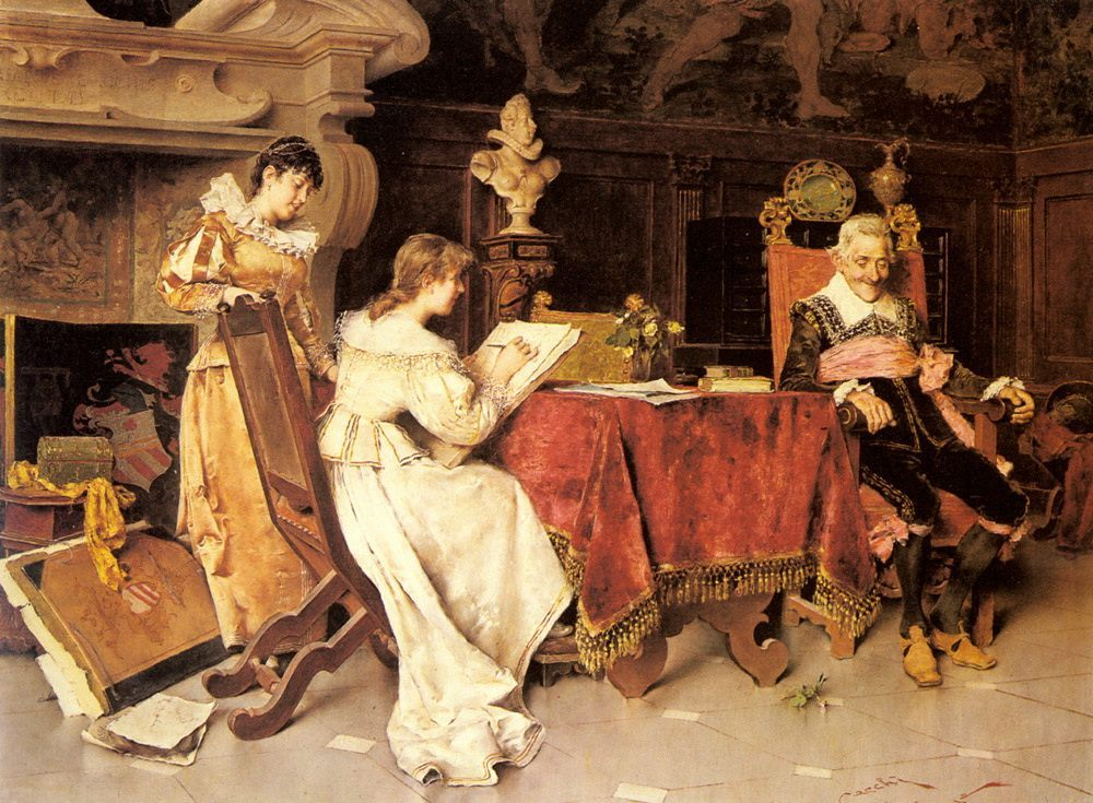The Art Lesson :: Adriano Cecchi - Romantic scenes in art and painting фото