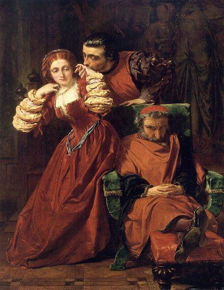 Two Gentlemen of Verona :: Alfred Elmore - Romantic scenes in art and painting ôîòî