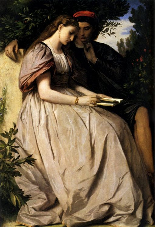 Paolo And Francesca :: Anselm Friedrich Feuerbach - Romantic scenes in art and painting фото