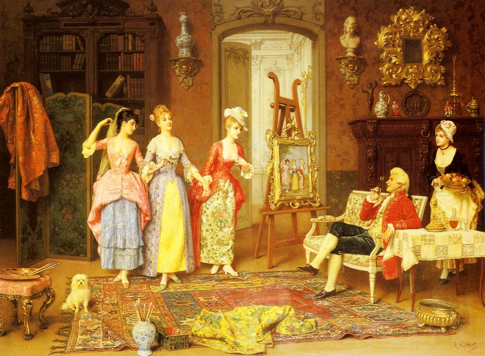 The Three Graces :: Antonio Gisbert - Romantic scenes in art and painting ôîòî
