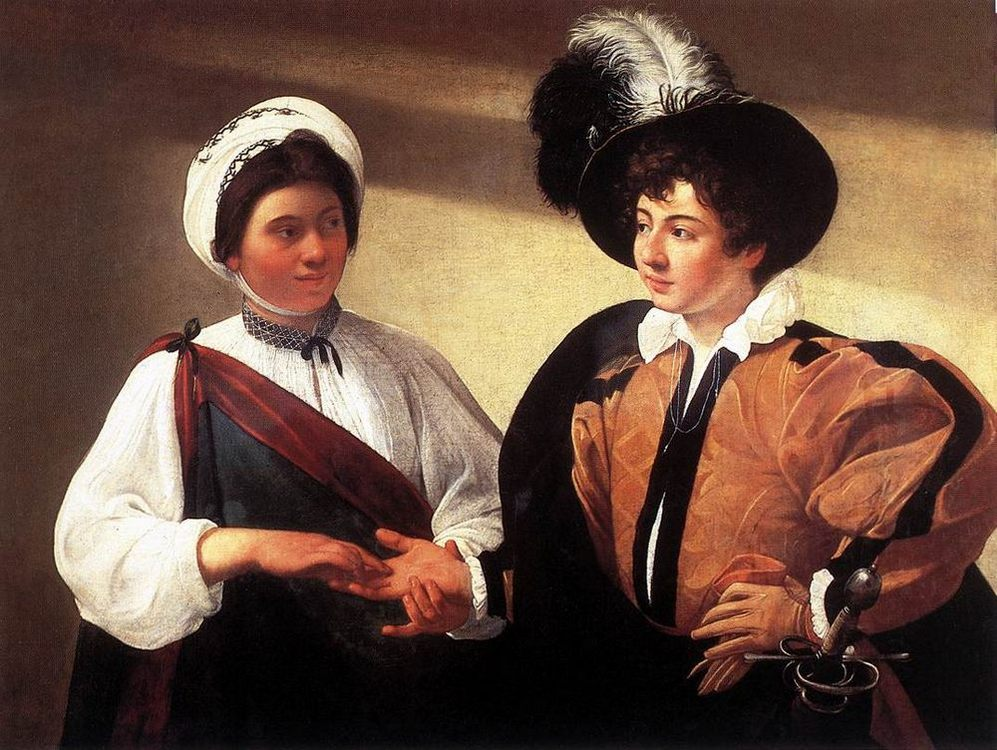 The Fortune Teller :: Caravaggio - Romantic scenes in art and painting фото