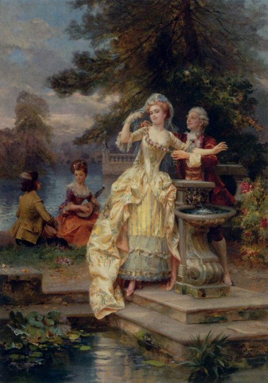 Lovers [ Les Amiants ] :: Cesare-Auguste Detti - Romantic scenes in art and painting фото
