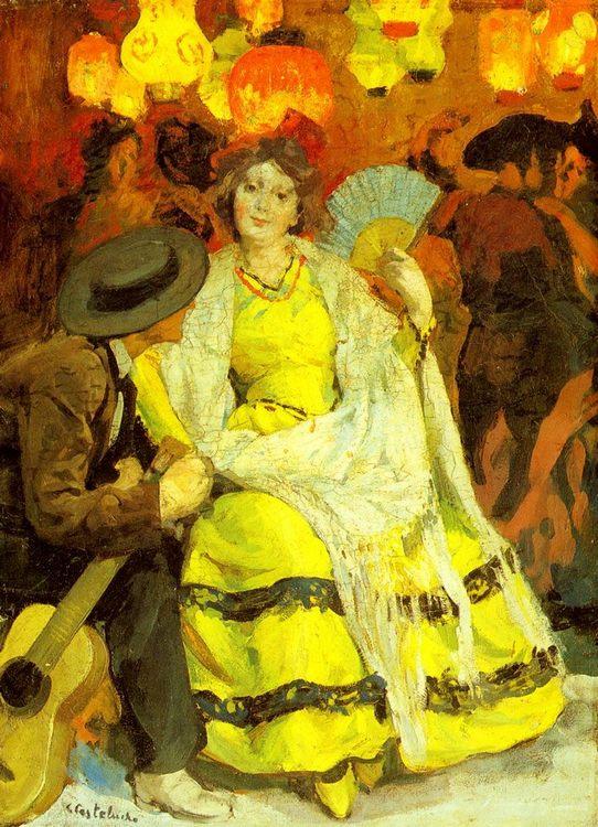 Listening to music :: Claudio Castelucho - Romantic scenes in art and painting ôîòî