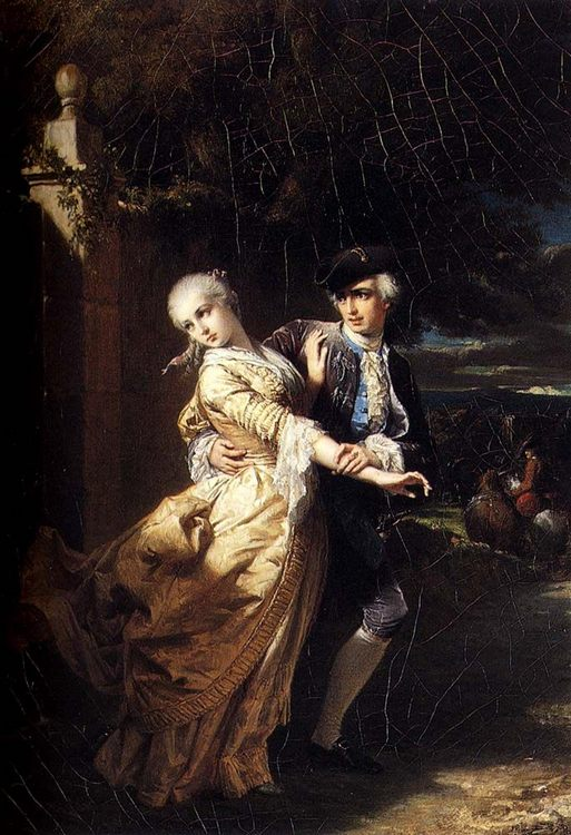 Lovelaces Kidnaping Of Clarissa Harlowe :: Edouard Louis Dubufe - Romantic scenes in art and painting фото