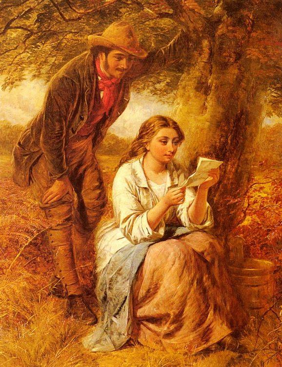 Happy Moments :: Edward John Cobbett - Romantic scenes in art and painting фото