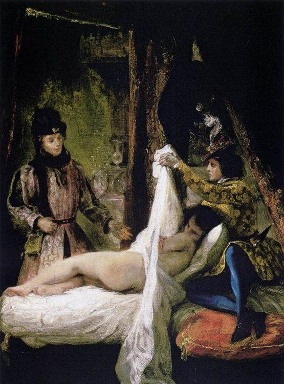 Louis d Orlans Showing his Mistress :: Eugиne Delacroix - Romantic scenes in art and painting ôîòî