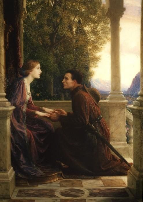The End of the Quest :: Frank Dicksee - Romantic scenes in art and painting фото