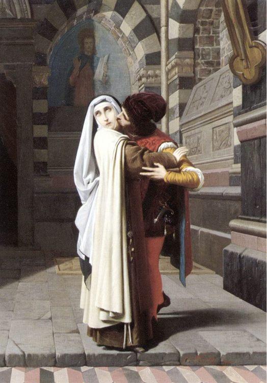 The Embrace of Fra Filippo Lippi and Lucrezia Buti :: Gabriele Castagnola - Romantic scenes in art and painting ôîòî
