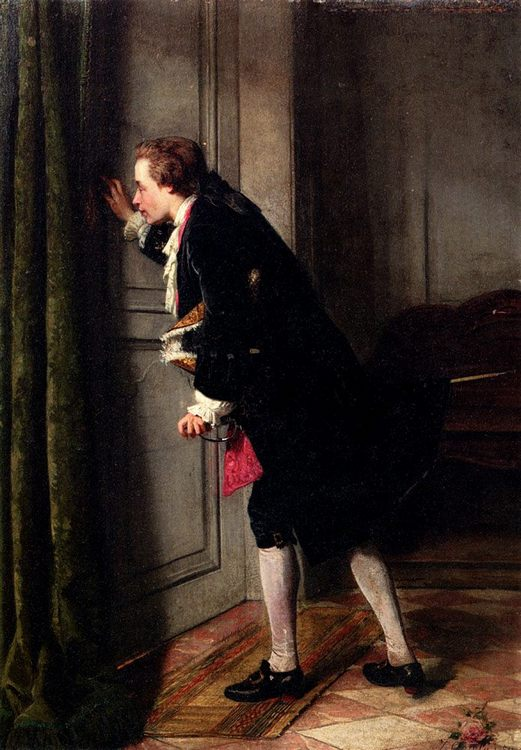 Peeping Tom :: Jean Carolus - Romantic scenes in art and painting фото